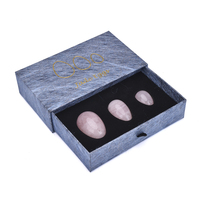 2019 trending products stand drilled certified jade yoni egg box with string and gift box