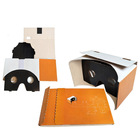 Easy pop-up foldable google cardboard virtual reality vr headsets
