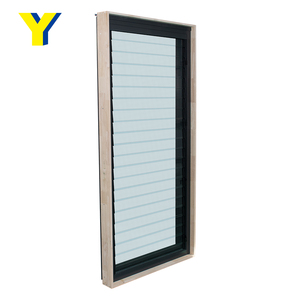 YY double glazed shutter windows security grills for windows with shutter