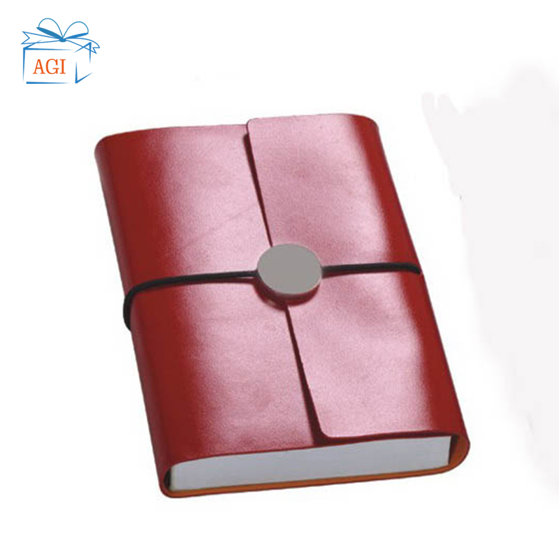 Couro rosa pu cover note book