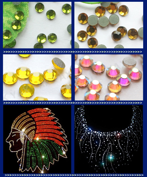 G0830 DOUBLE GLUE!! Light Topaz Color SS 10 China Hot Fix Rhinestone for Dressings, Glue on Rhinestone for PU PVC