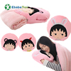 2019 Newest Cartoon and lovely cherry Pillow Wholesale cute plush soft blanket winter/summer cartoon stuffed toy