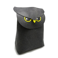 Collapsible Eco-friendly folding 100% polyester felt storage organizer bags owl wall storage bags