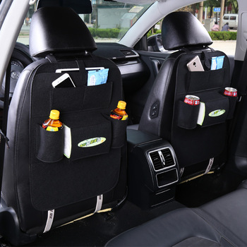 Car seat back pocket bag felt material Anti-kick interior multi-function storage box Paper backrest hanging bag