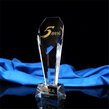 Customized blank acrylic company commemorate 5 years crystal tower award trophy for honor