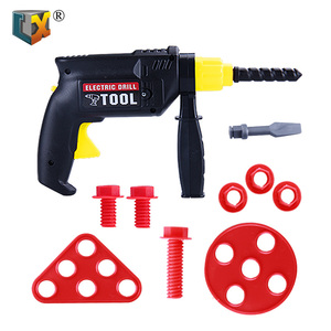 Portable pretend children plastic tool electric hand drill kids electric drill tool set toy