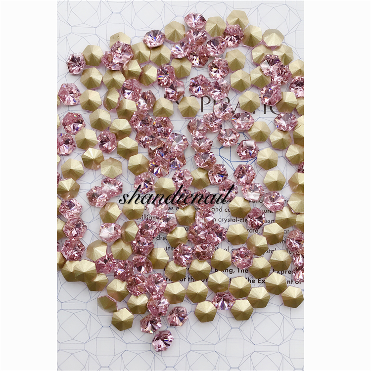 Reliable supplier low price women nail decor 3D colorful rhinestone crystal rivets nail art salon accessories