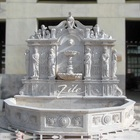 Classical Elegant Hand Carved Outdoor Stone Wall Fountain