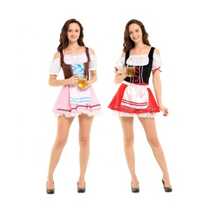 acc36690f5f 2019 New Maid Dress Uniform Beer Girl Costume Waiter Clothes Carnival  Costume
