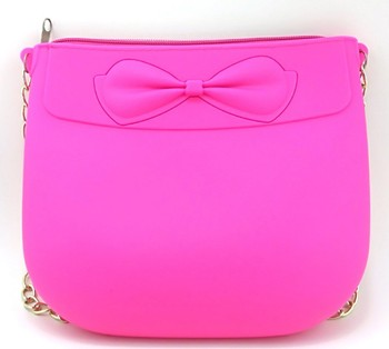 Hor Sale  Fashion Candy Color Jelly Silicone Rubber Ladies Handbags