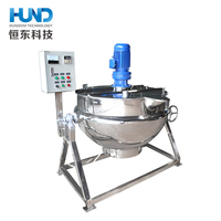 Double jacketed cooking tank / industrial steam jacketed cooking kettle/Commercial Restaurant Soup Cooking Equipment