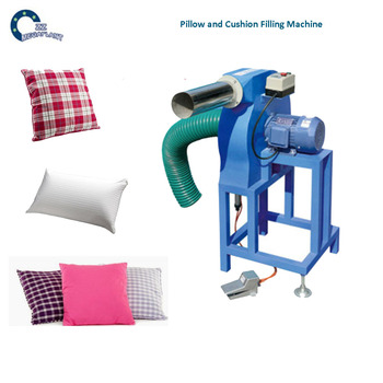 90-100Kgs Air Compressor Type Automatic Ball Fiber Cushion Filling Machine and Pillow Stuffing Blower Filler