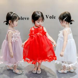 430150237b6a7 wholesale price summer flower lace baby girls cotton princess dresses  newborn pink baby party dress modern