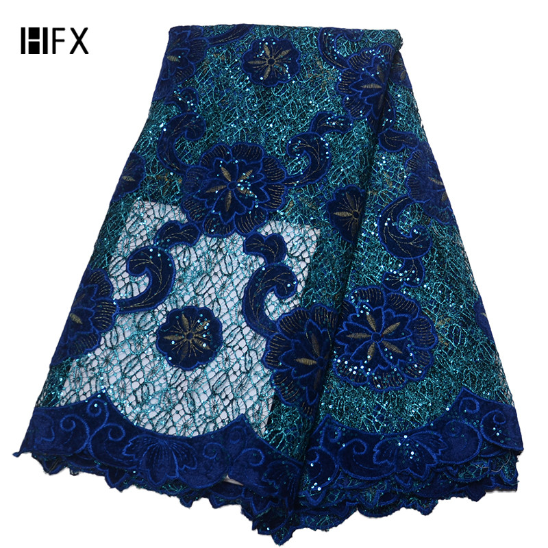 Well-Educated African Lace Fabric 2019 High Quality Lace 3d Flower Lace Fabric Embroidery Sequins Lace Trim 5yards For African Bridal Dress Skillful Manufacture Arts,crafts & Sewing Lace