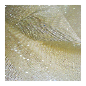 Fast delivery shine plain dyed glitter soft tulle fabric for wedding dress