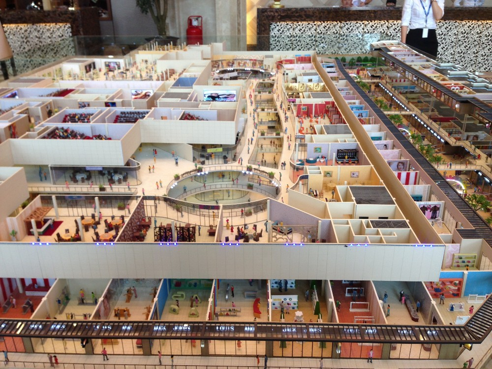 shopping centre miniature scale model buy scale model buildings interior layout model. Black Bedroom Furniture Sets. Home Design Ideas