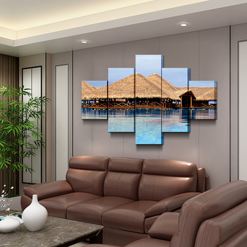 5 bedroom living room Hawaiian cottage house seaside holiday Wall Art Printing Decor Modern Canvas
