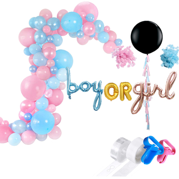 "Customized New Foil Boy or Girl 36"" Giant Confetti Balloon Garland Strip Kit for Baby Shower Party decoration"