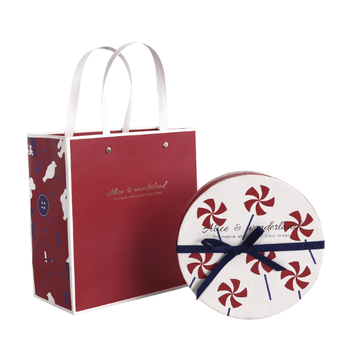 Free Sample Fresh And Creative Round Holiday Simple Artistic Bow Round Luxury Craft Paper Box