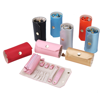New style Wholesale pouch Roll Jewelry Organizer jewelry roll bag leather