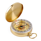 High end multifunctional mini golden hiking compass for sale