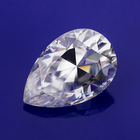 Synthetic Pear Cut Loose Moissanite Stones 8X10MM 2.0 Carats Moissanite Gemstones