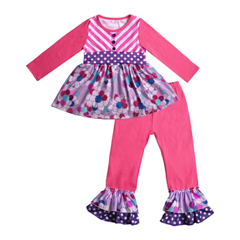 bouitique girl outfits wholesale summer cute girls clothing set new design kids clothing girl in stock
