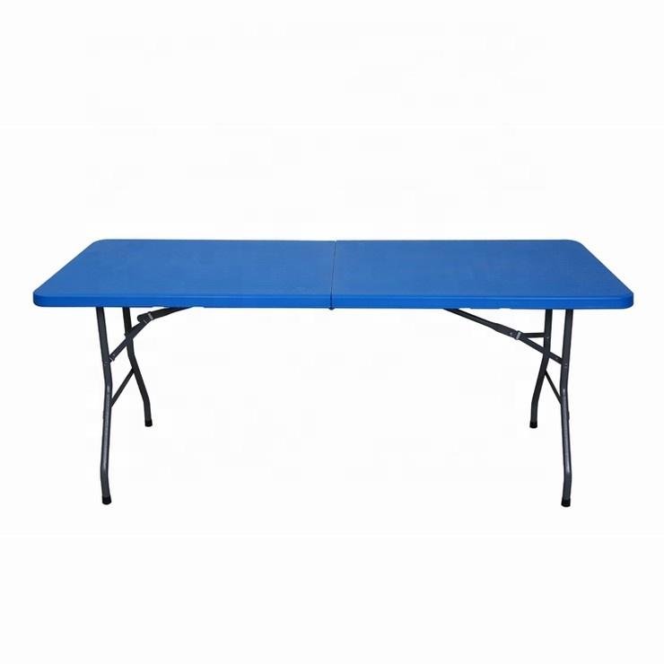 Azul Masstic Comedor Plegable De Rústico Mesa Barato Picnic Suministro Plástico Maleta CdhQxBtsr
