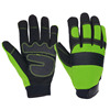 Durable Anti-slip Vibration Resistance Men's Mechanic Work Gloves for Logistic Working Area
