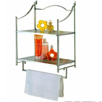 2 Tier Iron Wire Wall Mount Bathroom