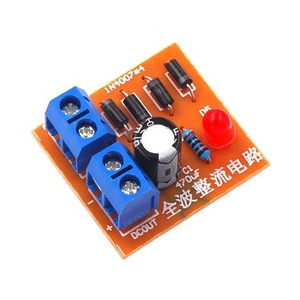 Full Wave Bridge Rectifier Circuit Board Suite AC To DC Power Supply Converter DIY Kit IN4007