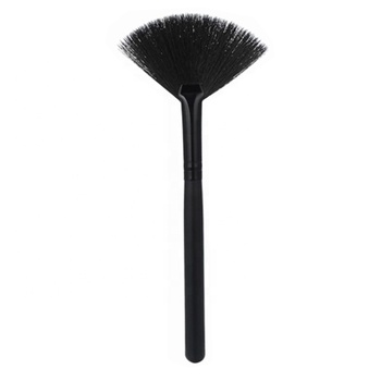 Custom Disposable Small Private Label Cosmetics Makeup 1 Pcs Fan Shape Makeup Brush