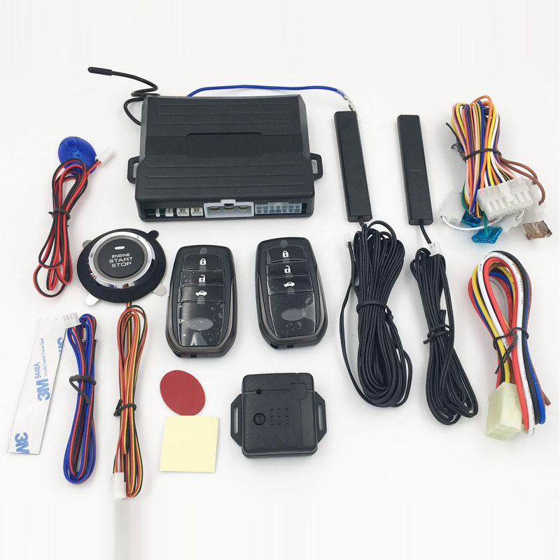 Universele pke drukknop motor start stop keyless entry remote start auto alarm systeem