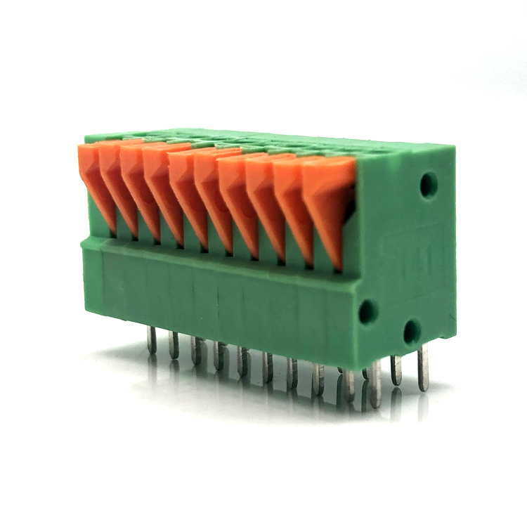 141V 2.54mm Screwless spring terminal block 26-20AWG
