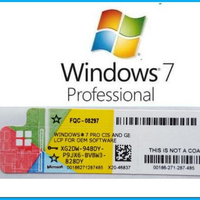 Computer Systems Software Genuine key online download multi-Language Windows 7 Pro Professional Coa License Sticker win 7pro key