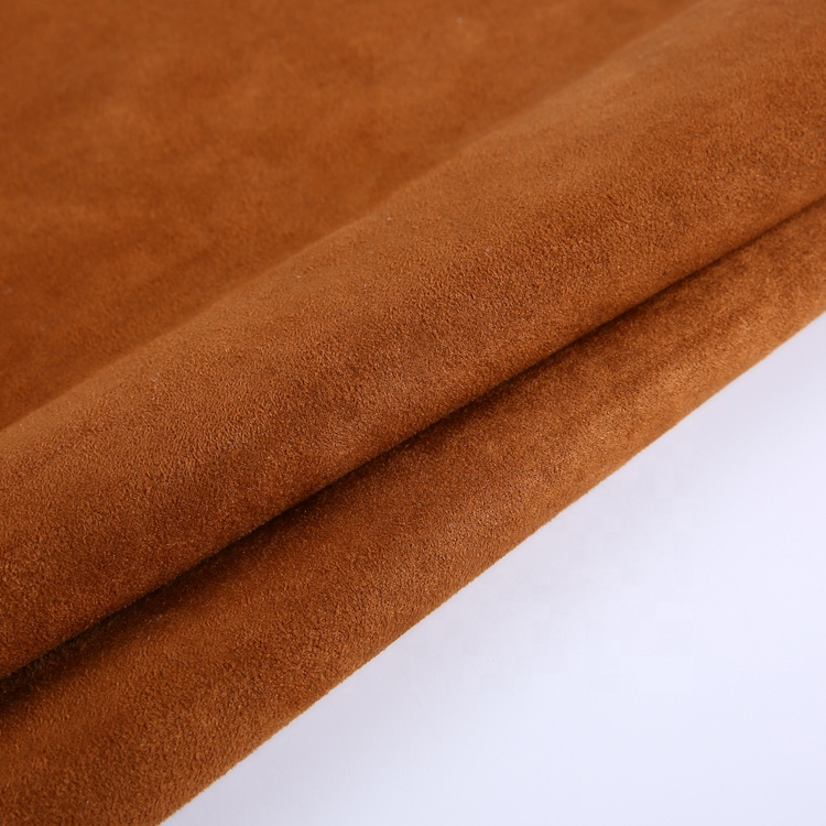 2020 hot sell Polyester thick interlock sherpa bonded knit fabric suede