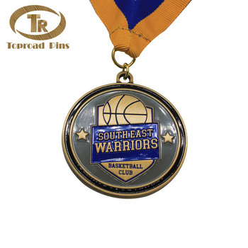 Custom cheap size blank made adward basketball sport award medals