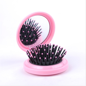 c0a20bacffd92 Circular Mirror With Comb Hair Brush Comb Mirror Set Mini Foldable Hair  Comb - Buy Decorative Mirror Brush Comb Set,Mirror With Lights Around The  ...