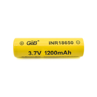 Factory wholesale GEB ICR18650 3.7v 1200mah rechargeable lithium ion battery cell