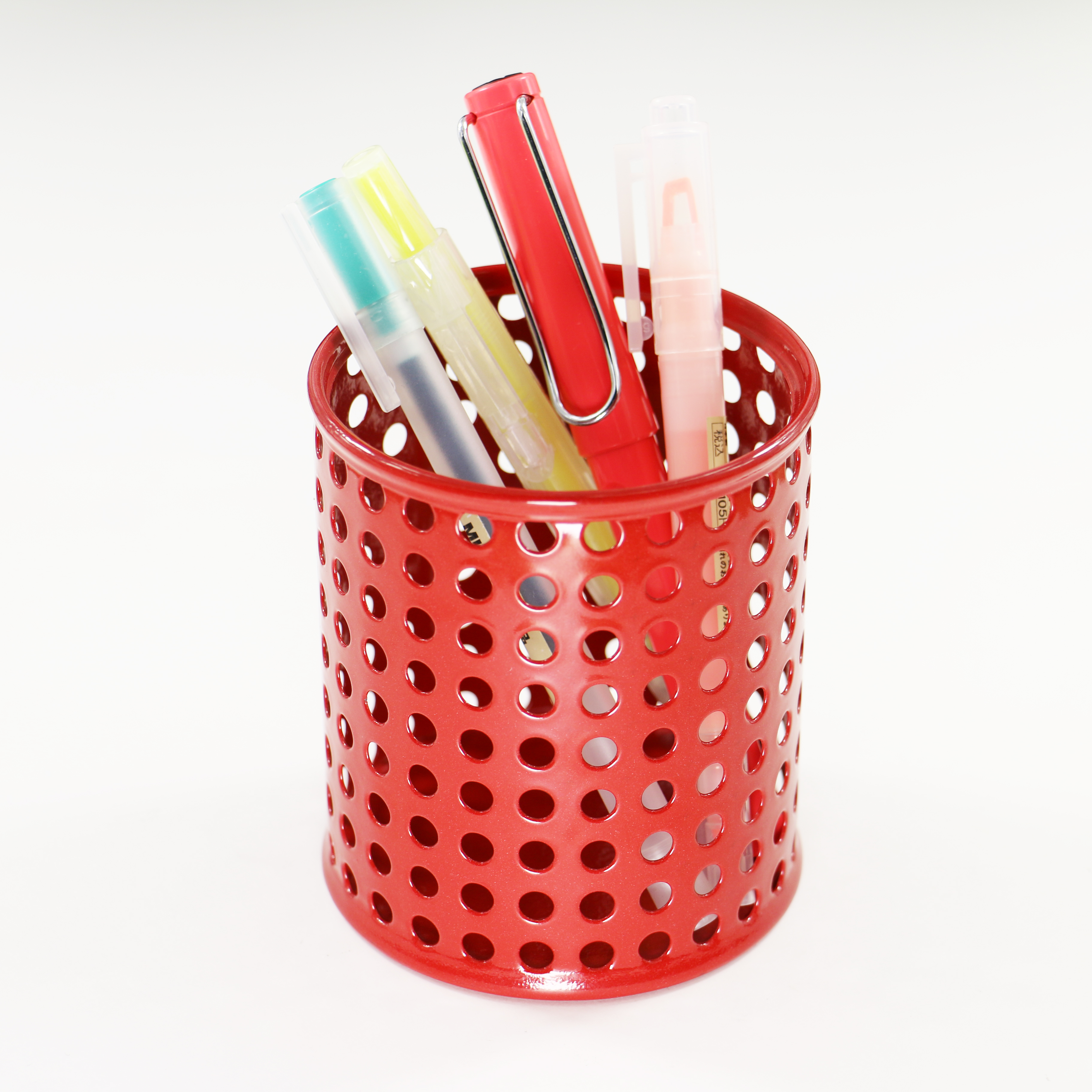 Rose Gold Wire Net Pencil Holder Round Iron Mesh Pen Cup Stationery Organizer Desk Sorter For Office Home School Moderate Cost Office & School Supplies