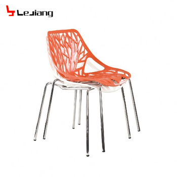 Free Sample Modern White Clear Plastic Dining Chair