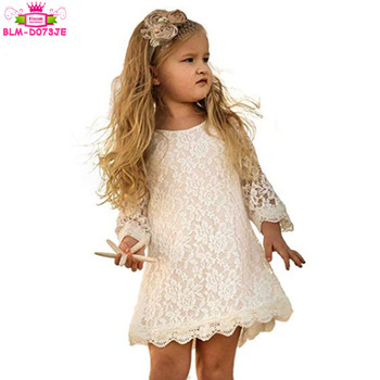 Rose Flower Lace Infant Toddler Pageant Wedding Dress Ivory Lace Vintage Flower Baby Girl Dress