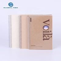 Eco-Friendly PP/Paper Hardcover A4 A5 metal ring Wire Binding Bound Notepad Custom Spiral Note Book Notebook