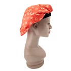 Luxury design soft hair cap hat custom satin silk sleep bonnet