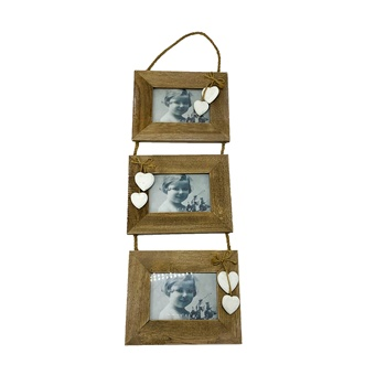 Wholesale decorative love hanging triple wall mount wooden photo picture frames