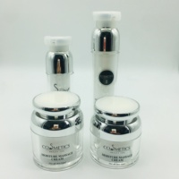 Private Custom Label Airless Bottle Luxury Skincare Acrylic Plastic Type and Plastic Body Material cosmetic jar and bottle set