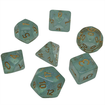 INS 7-Die Series Two Colors Dungeons dice and Dragons DND RPG MTG Table Games Dice Cool new color