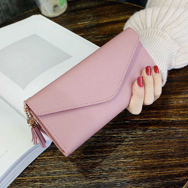2019 new style long women wallet multi-function lady purse with zipper