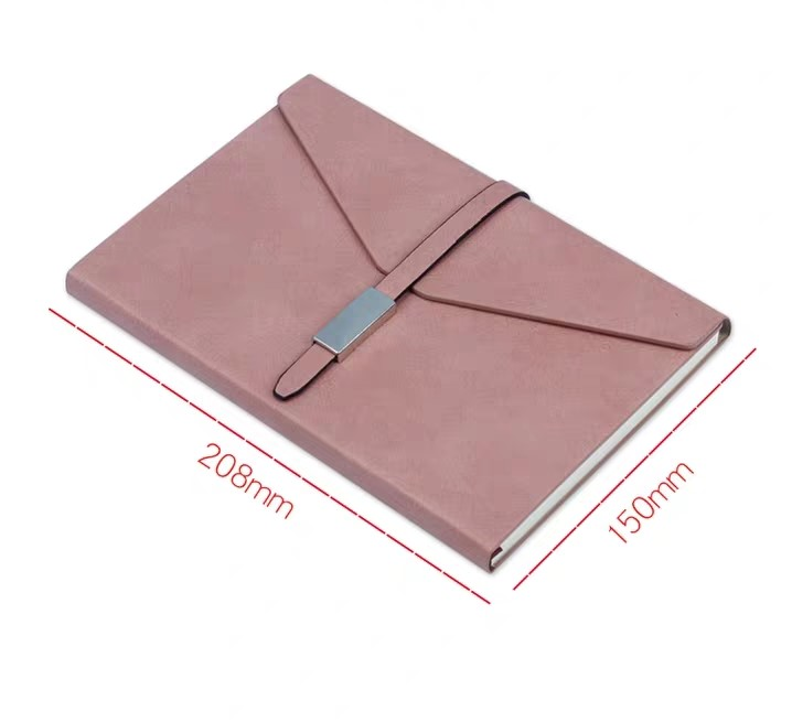 2020 custom notebook a5 leather planner in three folder with hasp