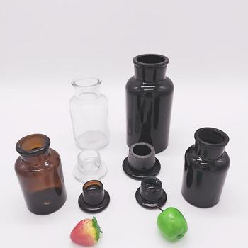 pharmaceutical drug chemist pill pusher apothecary clear matte black medicine amber apothecary glass bottle